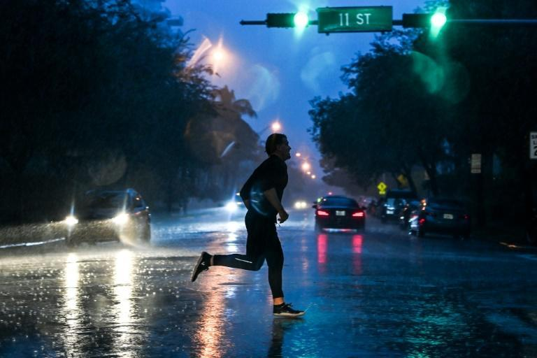 The US Hurricane Center warned that Eta was bringing 'strong winds, heavy rains, and dangerous storm surge'