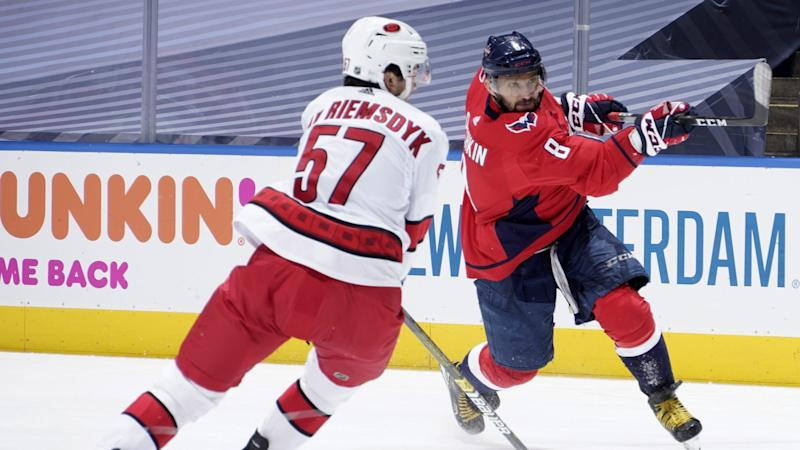 Ovechkin's two goals lead Capitals over Hurricanes in exhibition
