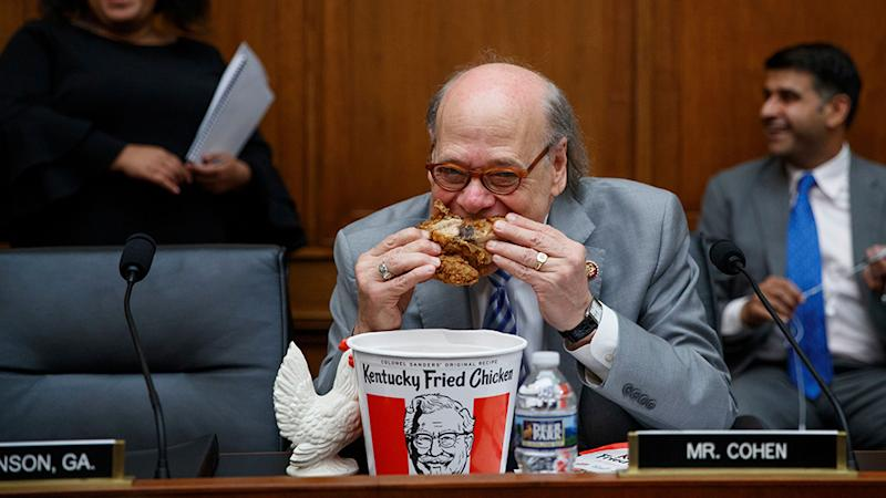 Congressman Steve Cohen Mocks A.G. 'Chicken' Barr by Eating KFC at Hearing