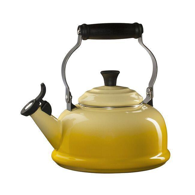 """<p><strong>Le Creuset </strong></p><p>lecreuset.com</p><p><a href=""""https://go.redirectingat.com?id=74968X1596630&url=https%3A%2F%2Fwww.lecreuset.com%2Fclassic-whistling-kettle-factory-to-table-sale%2FQ3101-FTT.html&sref=https%3A%2F%2Fwww.goodhousekeeping.com%2Flife%2Fmoney%2Fg33563225%2Fle-creuset-factory-sale-august-2020%2F"""" rel=""""nofollow noopener"""" target=""""_blank"""" data-ylk=""""slk:Shop Now"""" class=""""link rapid-noclick-resp"""">Shop Now</a></p><p><del>$100</del><strong><br>$50</strong> </p><p>Want to start your day with a soothing cup of tea? This whistling kettle will give your kitchen an old-school flair.</p>"""