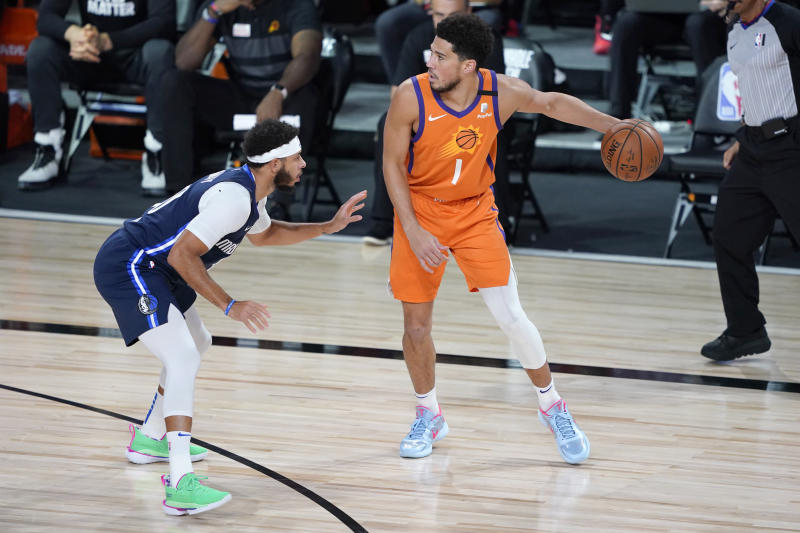 Devin Booker with the ball.