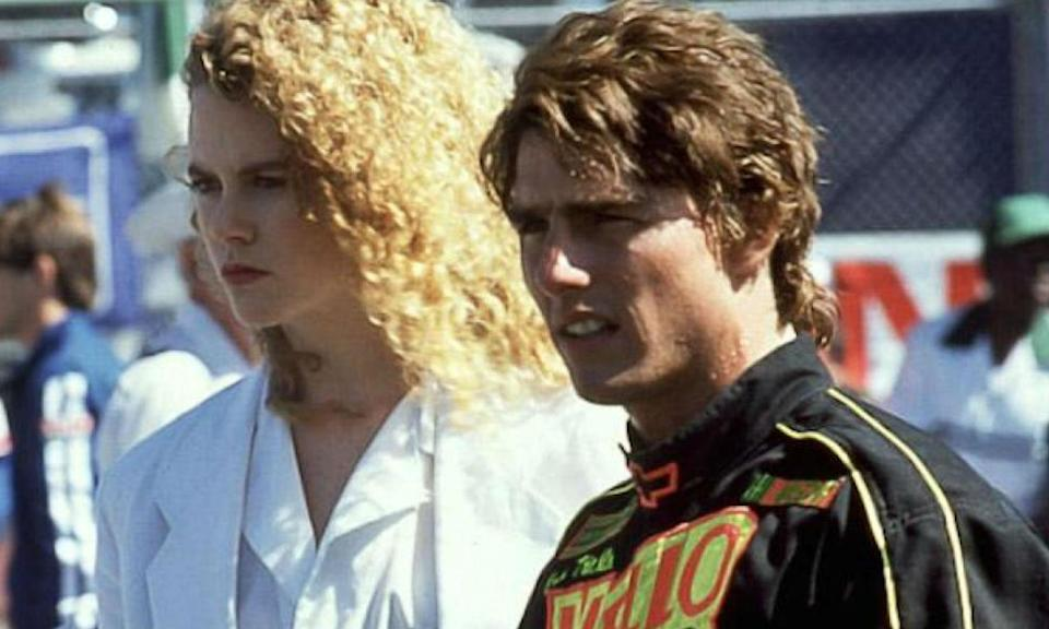 <p>Tom Cruise was married to Mimi Rogers when he signed on to star in the motor movie with Nicole Kidman. With trouble already in their marriage because of his cheating, Rogers filed for divorce one month into production and Cruise married Kidman a year later. </p>