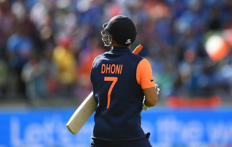 Dhoni using different bat logos as goodwill gesture