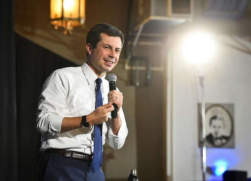 Democratic presidential candidate and South Bend, Indiana, Mayor Pete Buttigieg speaks during a campaign stop at the Danceland Ballroom on Dec. 7, in Davenport, Iowa. (Photo: Meg McLaughlin/ASSOCIATED PRESS)