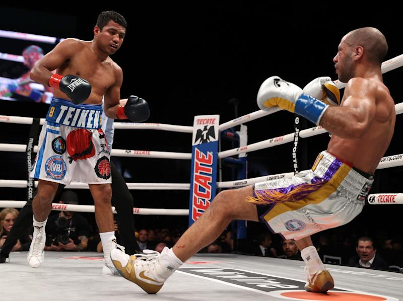 Kal Yafai was dropped by Chocolatito in the eighth: Matchroom Boxing USA