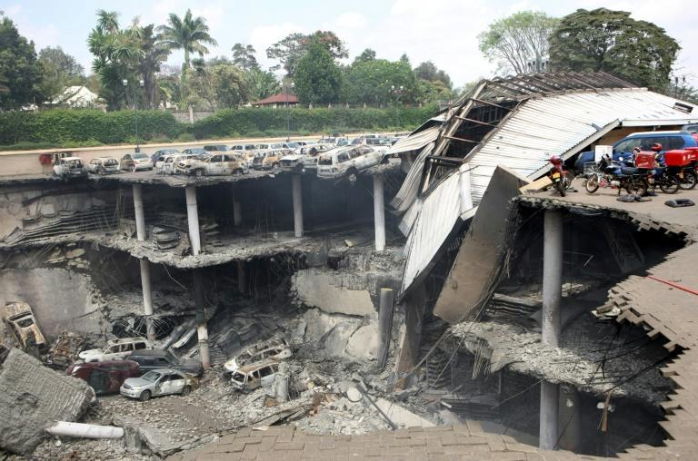 Destruction: A section of the Westgate mall after the assault