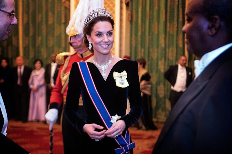 Kate Middleton dons a tiara for a royal event