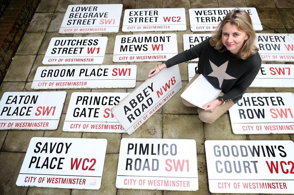 <p>Some of London's most famous street signs were sold off at auction.</p> (Pa)