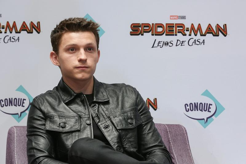 "QUERETARO, MEXICO - MAY 04: Tom Holland attends Conque 2019 to present the new film ""Spider-Man: Far From Home"" at Centro de Congresos on May 4, 2019 in Queretaro, Mexico. (Photo by Victor Chavez/Getty Images)"