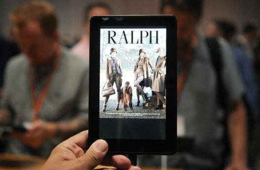 In the red-hot tablet market effectively created by the iPad, strong growth is being seen by Android rivals including Amazon's popular Kindle Fire, pictured, and Nook devices from Barnes & Noble, which run custom versions of the software