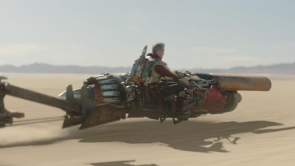 <p> <strong>Episode 1</strong> </p> <p> The prequels aren't all bad – the podracing scene in The Phantom Menace is up there with anything in the sequels. Don't @ me. We even see a speeder in the Mandalorian that looks very similar to Anakin's ship. Either Anakin put two of these ships together for his podracer (he was, after all, a boy wonder) or the Marshal has salvaged some of Anakin's old racer for his own purposes. </p>