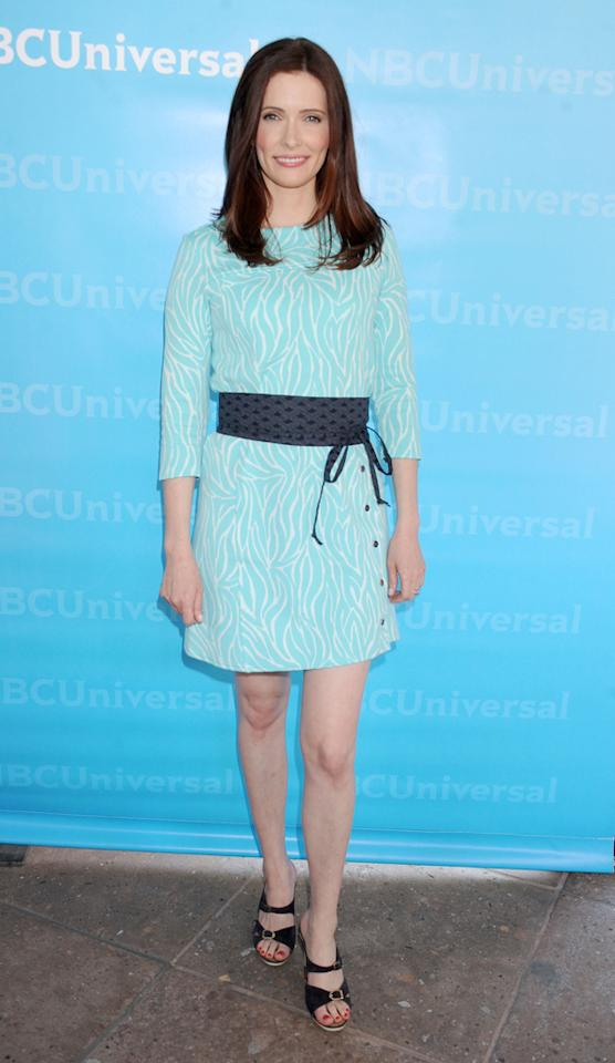 """Bitsie Tulloch (""""<a href=""""http://tv.yahoo.com/grimm/show/42522"""">Grimm</a>"""") arrives at NBC Universal's 2012 Summer Press Day at The Langham  Huntington Hotel and Spa on April 18, 2012 in Pasadena, California."""