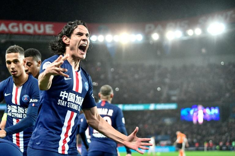Edinson Cavani made a rare start for PSG and scored his 200th goal for the club in their win over Bordeaux
