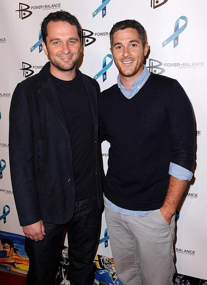 """""""Brothers & Sisters"""" buds Matthew Rhys and Dave Annable exchanged some brotherly love at the event. Jordan Strauss/<a href=""""http://www.wireimage.com"""" target=""""new"""">WireImage.com</a> - August 3, 2010"""