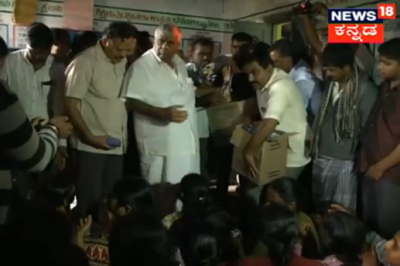 Karnataka PWD Minister Revanna Throws Biscuit Packets at Hungry Flood Victims. His Son Apologises
