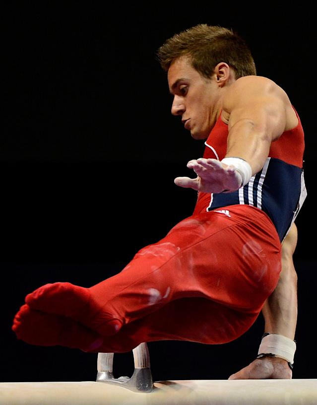 SAN JOSE, CA - JUNE 30: Sam Mikulak competes on the pommel horse during day 3 of the 2012 U.S. Olympic Gymnastics Team Trials at HP Pavilion on June 30, 2012 in San Jose, California. (Photo by Ronald Martinez/Getty Images)