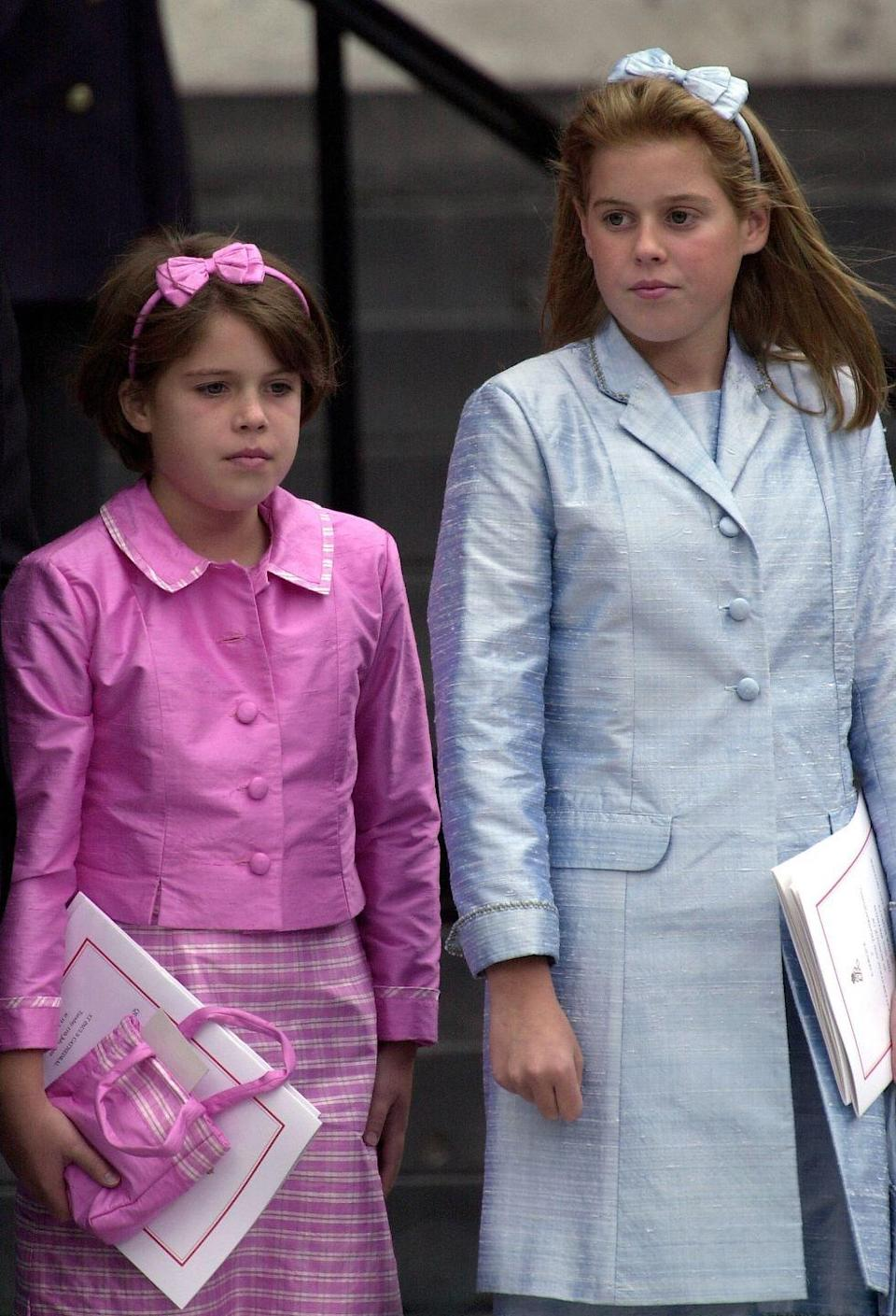 <p>Princess Eugenie looked gorgeously girly in 2000 at a thanksgiving service marking her great-grandmother, the Queen Mother's, 100th birthday. </p>