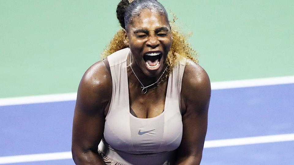 Serena Williams, pictured here during her semi-final clash against with Victoria Azarenka at the US Open.