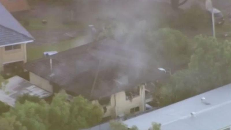Neighbours have said they smelled fuel before the explosion at the house. Source: 7 News