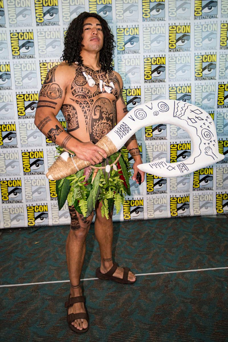 "Cosplayer Wester Demandante as Maui from ""Moana."""