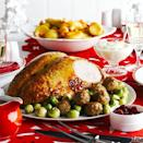 """<p>A crown cooks quickly and is easy to carve.</p><p><strong>Recipes: <a href=""""https://www.goodhousekeeping.com/uk/food/recipes/a537090/glazed-turkey-crown-with-stuffing-and-sprouts/"""" rel=""""nofollow noopener"""" target=""""_blank"""" data-ylk=""""slk:Glazed Turkey Crown"""" class=""""link rapid-noclick-resp"""">Glazed Turkey Crown</a></strong></p>"""