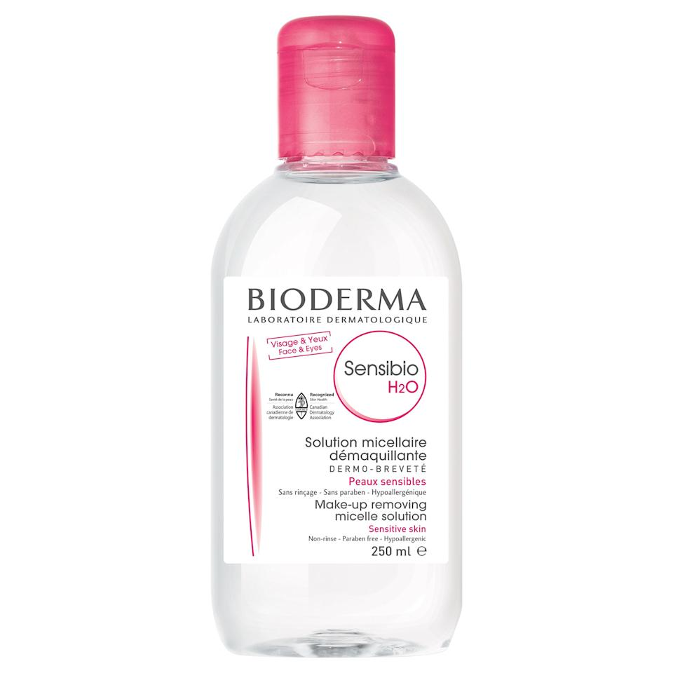 """<p>Micellar water may only be a recent phenomenon in the states, but those in the beauty know (namely makeup artists and models who worked extensively in Europe) have been using the stuff for years. And by stuff, we mean Bioderma, the original micellar cleanser. Available for decades at French pharmacies, makeup artists would stock up on it during fashion week in Paris — it's great to use backstage (where sinks are hard to find) and perfect for models whose skin has become sensitized after four weeks of five shows per day. Now, all you have to do is ask Alexa to get a bottle of Bioderma delivered right to your door, but we'll never forget the days of trying to jam jumbo packs of the gentle-yet-powerful cleanser into our suitcases so we'd always have a fully stocked supply.</p> <p><strong>$15</strong> (<a href=""""https://shop-links.co/1684689487683540075"""" rel=""""nofollow"""">Shop Now</a>)</p>"""