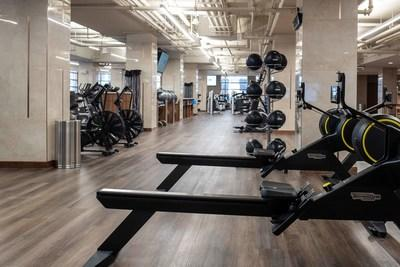 Life Time 23rd Street has an expansive fitness floor featuring high-end equipment from Technogym.