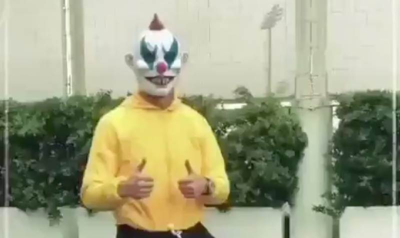 Cristiano Ronaldo went full clown show at Juventus' team facility. (Twitter/@Cristiano)