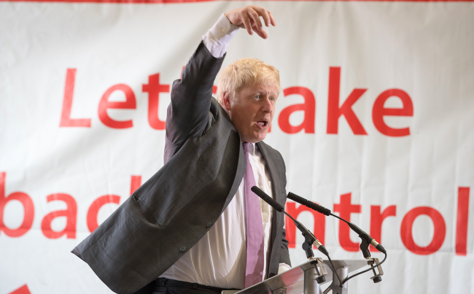<em>The former foreign secretary has repeatedly stood by the £350 million figure used by the Vote Leave campaign during the referendum (Getty)</em>