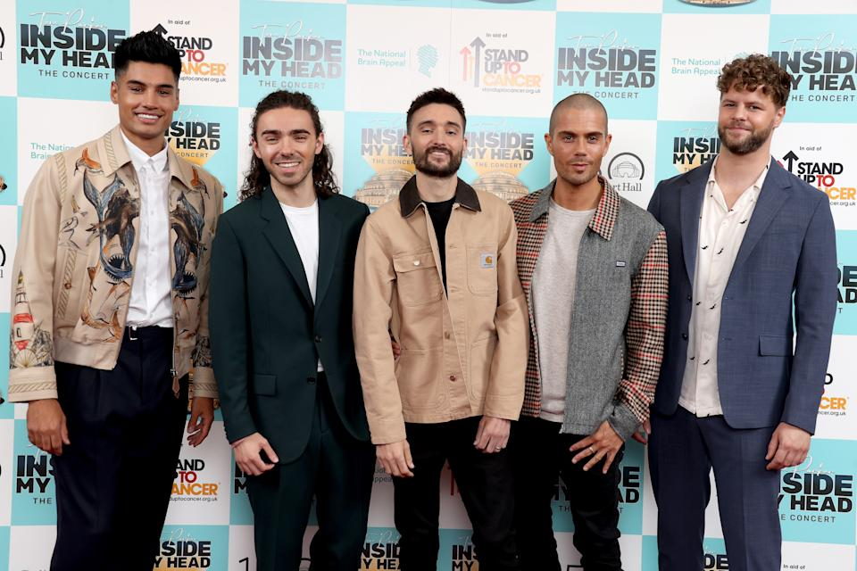 LONDON, ENGLAND - SEPTEMBER 20: Max George, Siva Kaneswaran, Jay McGuiness, Tom Parker and Nathan Sykes members of The Wanted attend the