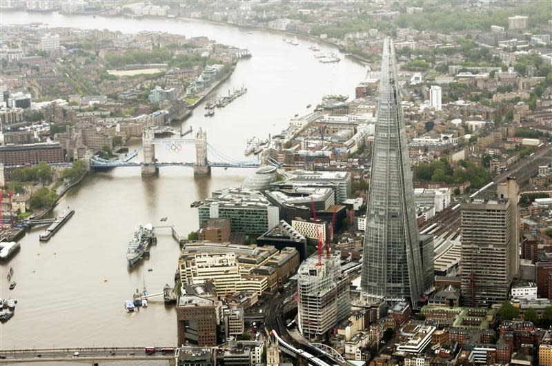 The Shard is seen in an undated image handed out by the public relations company working for the Shard, in London July 4, 2012. The European Union's tallest building will be inaugurated July 5. REUTERS/Handout/Newscast