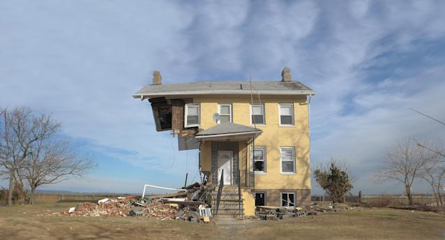 The Princess Cottage Inn, wrecked by Superstorm Sandy, in Union Beach, N.J. (Photo: Michael Loccisano/Getty Images)