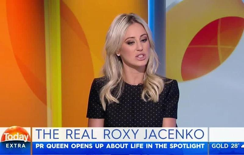 Roxy is a regular on the show and always appears to have a good rapport with host Karl Stefanovic. Source: Channel Nine