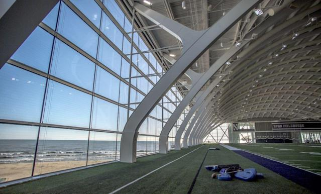 Northwestern's Ryan Fieldhouse on the shores of Lake Michigan. (Northwestern Athletics)