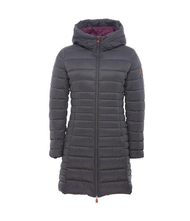 "<p>This fluffy, weightless puffer, shown in charcoal, is just one of a slew of styles offering superior warmth and water-resistance with Plumtech filling, from the company whose motto is ""Respect animals, respect environment, respect people."" (<a href=""https://savetheduckusa.com/collections/women/products/save-the-duck-womens-coat-s4311w-giga5-70-charcoal-grey?variant=48865975125"" rel=""nofollow noopener"" target=""_blank"" data-ylk=""slk:$298, Save the Duck"" class=""link rapid-noclick-resp"">$298, Save the Duck</a>) </p>"