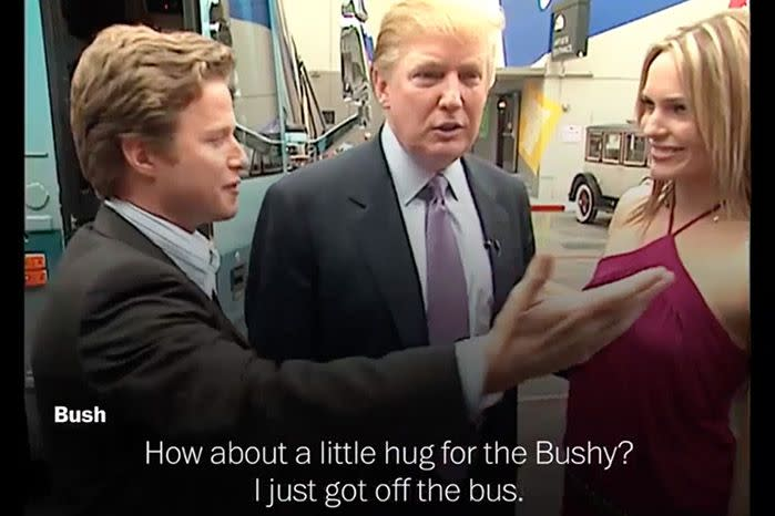 Bush said his lewd exchange with Trump back in 2005 left his daughter devastated.