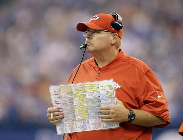 Andy Reid has signed an extension with the Chiefs. (AP)