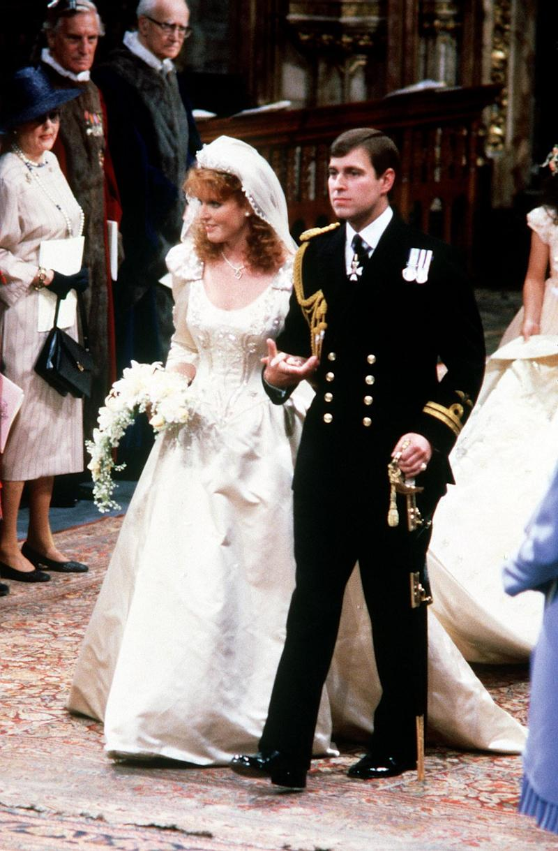 The Duke and Duchess of York during their wedding ceremony at Westminster Abbey, (PA Archive/PA Images)