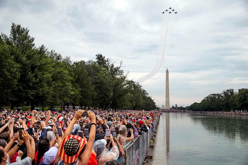 Trump's July Fourth celebration: No tanks, lots of planes