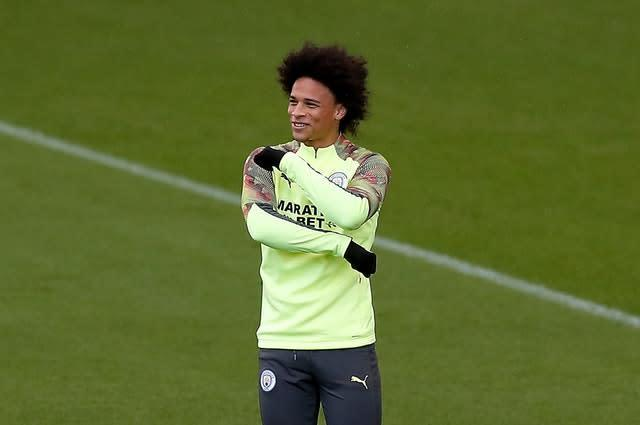 Leroy Sane is poised for a run out with City's Under-23 side (Martin Rickett/PA)