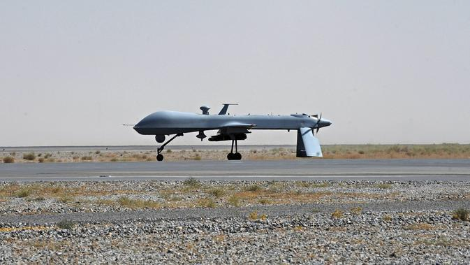 Ilustrasi drone AS (Massoud Hossaini/AP)