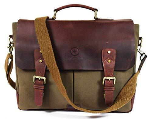 This leather messenger bag has a 4.5 out of 5 star review rating. (Photo: Amazon)