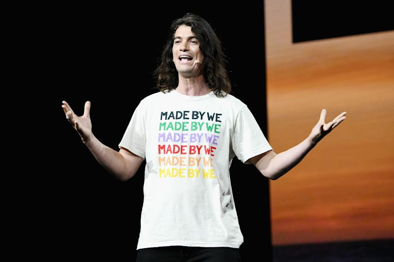 LOS ANGELES, CA - JANUARY 09: Adam Neumann speaks onstage during WeWork Presents Second Annual Creator Global Finals at Microsoft Theater on January 9, 2019 in Los Angeles, California. (Photo by Michael Kovac/Getty Images for WeWork)
