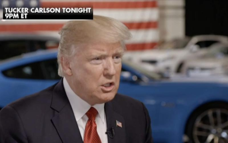Donald Trump speaks to Fox News, in an interview aired on Wednesday night - Fox News