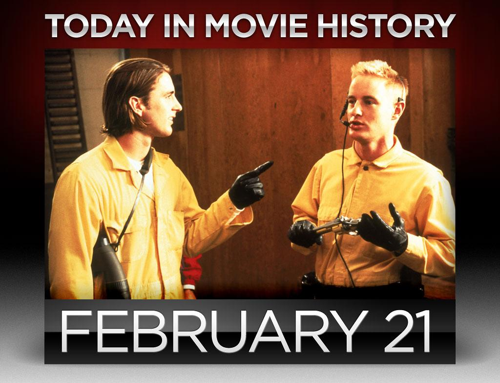 """<strong>1996</strong> – Wes Anderson's first feature, """"<a href=""""http://movies.yahoo.com/movie/bottle-rocket/"""">Bottle Rocket</a>"""", which his based on his original 13-minute short, was released on this day. It was also the first feature film roles for brothers Luke and Owen Wilson, who were friends with Anderson at the University of Texas in Austin. Owen also co-wrote the script with Anderson."""