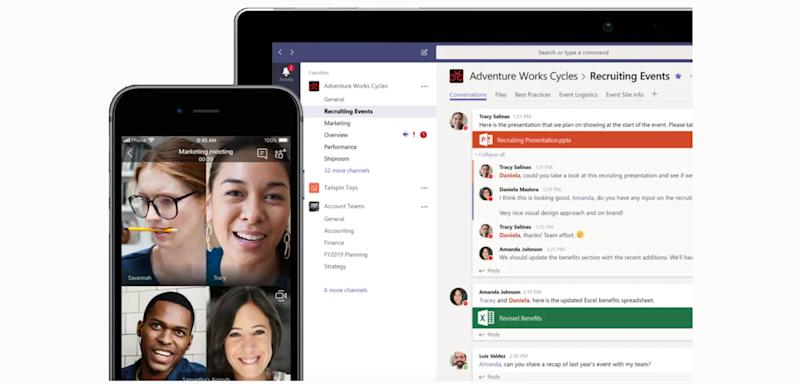 Microsoft is positioning Teams as the future of its Office suite, and a Slack killer. (Image: Microsoft)