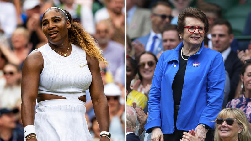 Serena Williams and Billie jean King. (Getty Images)