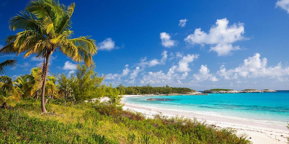 """<p>The <span class=""""redactor-unlink"""">Bahamas</span> chain consists of hundreds of islands, but one of the most beautiful is Harbour Island, known for its pastel-colored buildings, plantation-style accommodations, and pretty pink-sand beaches. Plus, the locals use golf carts to get around — how cool is that? </p>"""