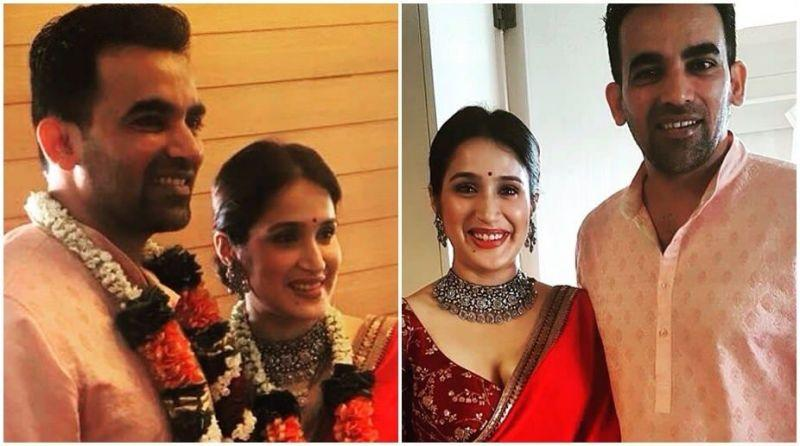 Image result for Zaheer Khan Ties knot with actress Sagarika Ghatge. Here are pictures of their wedding