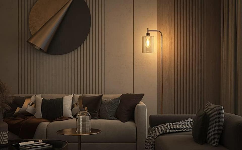<p>This <span>Addlon LED Floor Lamp</span> ($70, originally $80) looks like something out of a movie, which we love. It's minimal and provides lots of light.</p>